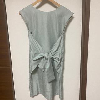 ストラ(Stola.)のstola 結婚式ミントブルーワンピースドレス(ミディアムドレス)