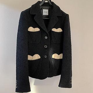 モスキーノ(MOSCHINO)のモスキーノ MOSCHINO 黒 ジャケット(テーラードジャケット)