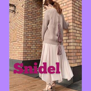 スナイデル(snidel)の新品タグ付き 正規品 スナイデル 今期新作 ニット トップス(ニット/セーター)