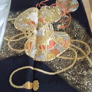 ミツコシ(三越)の黒留袖 正絹 金彩 金箔 比翼仕立て(着物)