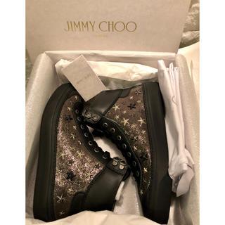 JIMMY CHOO - JIMMY CHOO ☆ ハイカット レザースニーカー