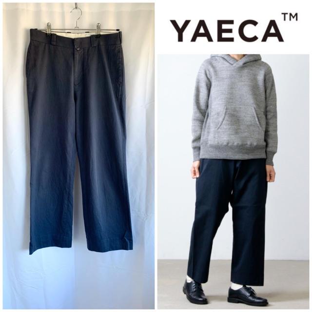 YAECA(ヤエカ)のYAECA CHINO CLOTH PANTS ストレート ネイビー 29 レディースのパンツ(チノパン)の商品写真