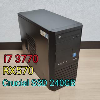 コスパ最強 ゲーミングpc RX570 i7 3770(デスクトップ型PC)