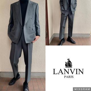 JOHN LAWRENCE SULLIVAN - 極上 LANVIN セットアップ  グレーグリーン  ダブル