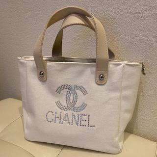 CHANEL - 正規品  CHANEL ノベルティバッグ ラスト1点  ホワイト ストーン