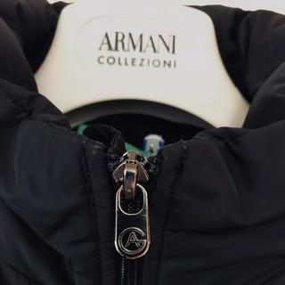 アルマーニ コレツィオーニ(ARMANI COLLEZIONI)のアルマーニ ARMANI COLLEZIONI ダウンコート フード内蔵 黒(ダウンジャケット)