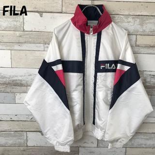 フィラ(FILA)の【人気】FILA フィラ ナイロンジャケット ホワイト サイズL(ナイロンジャケット)