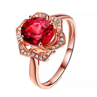 AAAランク ダイヤモンドcz ローズ 薔薇 リング 指輪 ピンクゴールド(リング(指輪))