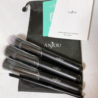 ANJOU メイクブラシ 4本セット(ブラシ・チップ)
