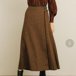 ステュディオス(STUDIOUS)のヘリンボーンラップスカート public tokyo(ロングスカート)