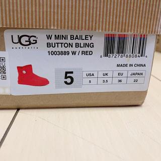 アグ(UGG)のUGG 赤 ムートンブーツ(ブーツ)