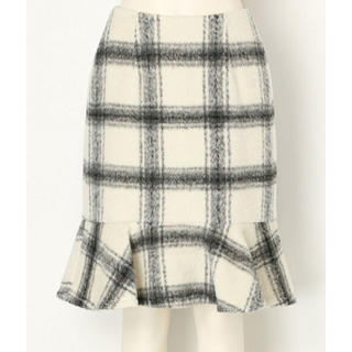 MERCURYDUO - シャギーチェックペプラムスカート
