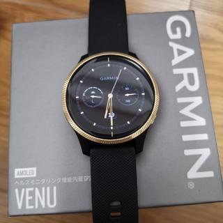 ガーミン(GARMIN)のgarmin venu ブラックゴールド(腕時計(デジタル))