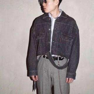 Jieda - 【最終価格】neon sign unfinished jacket ブラック