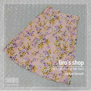 クチュールブローチ(Couture Brooch)のcouture brooch♡ グログランフラワースカート(ひざ丈スカート)