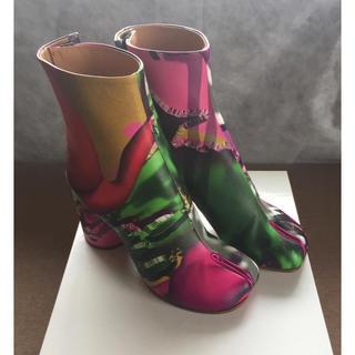 マルタンマルジェラ(Maison Martin Margiela)の19AW新品53%of メゾンマルジェラ プリント 足袋ブーツ tabi  タビ(ブーツ)