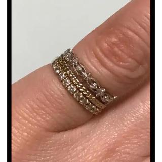 5号☆k10ダイヤモンド リングセット(リング(指輪))