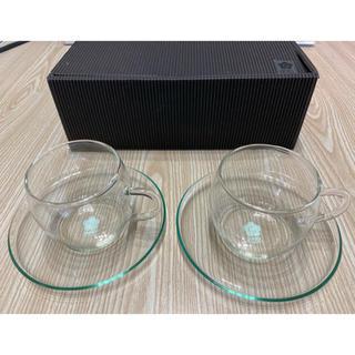 MARY QUANT - MARY QUANTのティーカップ2セット・ガラス(マリークワントノベリティ)