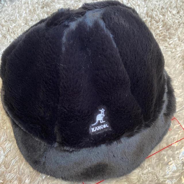 KANGOL(カンゴール)のkangol faux fur casual black M レディースの帽子(ハット)の商品写真