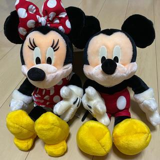 ディズニー(Disney)のミッキーマウス&ミニーマウスぬいぐるみ(ぬいぐるみ)