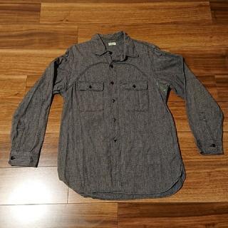 マスターピース(master-piece)のマスターピース ブラック デニム シャンブレーシャツ(シャツ)
