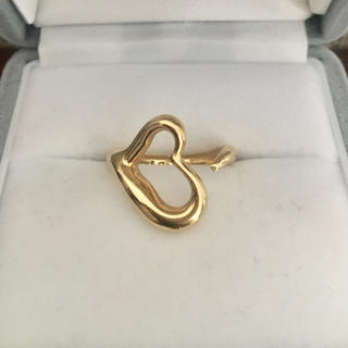 ティファニー(Tiffany & Co.)のティファニー オープンハート リング K18YG 6.5g(リング(指輪))