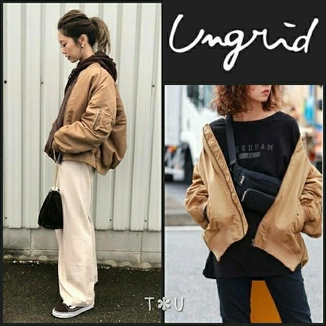 Ungrid(アングリッド)のungrid サイドジップボリュームma-1 レディースのジャケット/アウター(ブルゾン)の商品写真