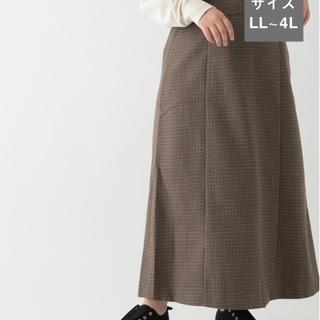 スタディオクリップ(STUDIO CLIP)のウールライクサスペンダー付きスカート3L(ロングスカート)