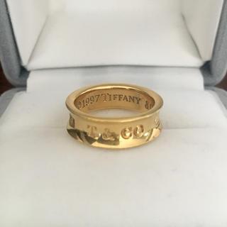 Tiffany & Co. - ティファニー 1837 ナロー リング K18YG 6.9g