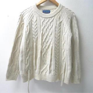 サンシー(SUNSEA)の最終価格 美品 doublet ダブレットケーブル編み ニット セーター(ニット/セーター)