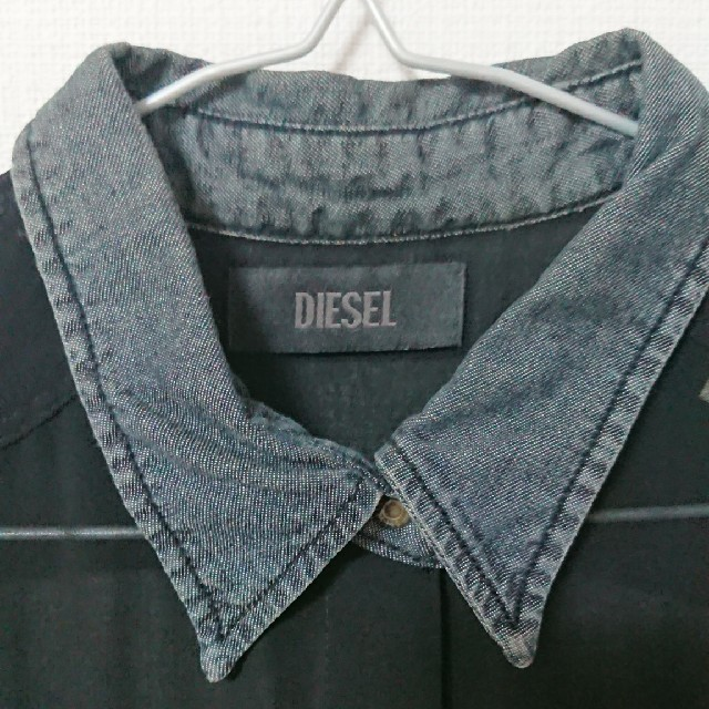 DIESEL(ディーゼル)のDIESEL シースルーシャツワンピース レディースのワンピース(その他)の商品写真