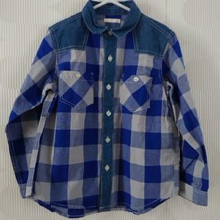 GU - 未使用 チェック長袖シャツ 120cm