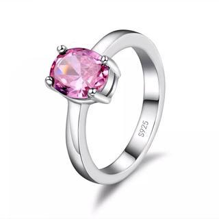 AAAランク ピンクトルマリン ダイヤモンドcz 15号 リング 指輪(リング(指輪))