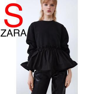 ZARA - ZARA コントラスト フリル スウェットシャツ スウェット レース
