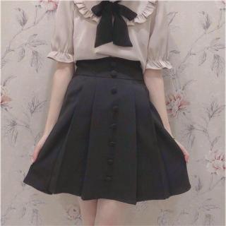 エブリン(evelyn)のくるみボタン スカート ブラック♡(ミニスカート)