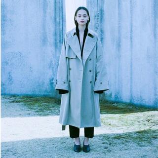 サンシー(SUNSEA)のstein lay oversised overlap coat(トレンチコート)