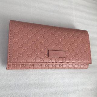 Gucci - 【新品未使用】GUCCI グッチ マイクログッチ マイクロCG 長財布 ピンク
