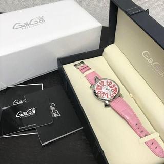 ガガミラノ(GaGa MILANO)のガガミラノ 腕時計 マヌアーレ48 ピンク 手巻き(腕時計)