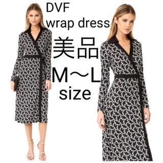 ダイアンフォンファステンバーグ(DIANE von FURSTENBERG)の美品 ダイアンフォンファステンバーグ リングベルト ラップワンピース ドレス(ロングワンピース/マキシワンピース)