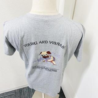 大人気ドッグTシャツ 灰 韓国 ストリート 肩落ち ルーズ ビッグシルエット(Tシャツ(半袖/袖なし))