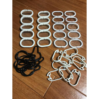 スリーコインズ(3COINS)のシャワーカーテン フック 49個セット(タオル/バス用品)