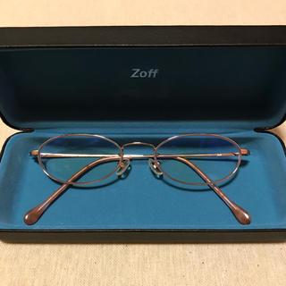 ゾフ(Zoff)のzoff ゾフ 眼鏡 メガネ ピンクゴールド  ブルーライトカットレンズ(サングラス/メガネ)