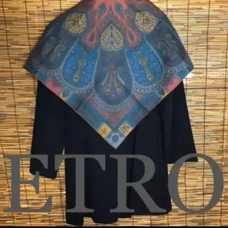 ETRO - 新品同様 エトロ シルク 大判 スカーフ ショール
