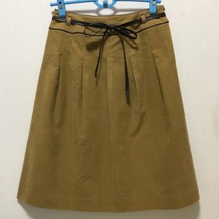 レリアン(leilian)のレリアン ウエストリボン付きスウェード調スカート(ひざ丈スカート)