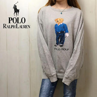POLO RALPH LAUREN - レア★0255 ポロ ラルフローレン ゴルフベアトレーナー