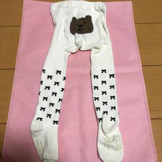 babyGAP - GAP くまちゃんタイツ 白 リボン柄 12〜24か月