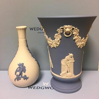 WEDGWOOD - 新品 未使用 ウェッジウッド ジャスパー  希少 ホワイト 花瓶 フラワーベース