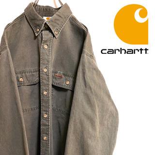 カーハート(carhartt)の〔風合い抜群〕90s Carhartt カーハート ヘビーコットン BDシャツ(シャツ)