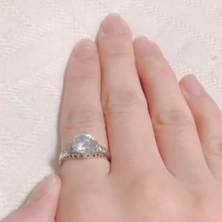 3ct透彫りダイヤAAAジルコニア指輪12号(リング(指輪))