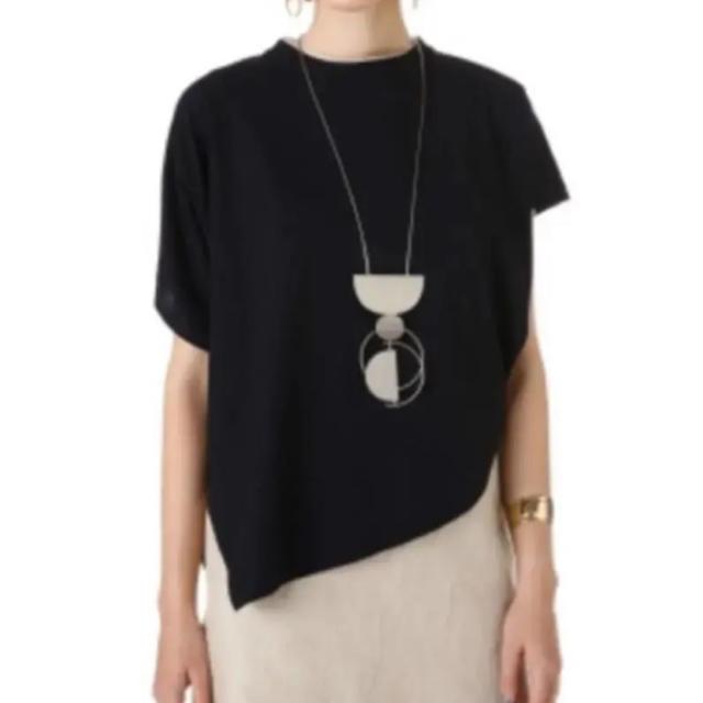 ENFOLD(エンフォルド)の【美品】ENFOLD 2018AW ハイツイスト天竺トライアングルTシャツ レディースのトップス(Tシャツ(半袖/袖なし))の商品写真
